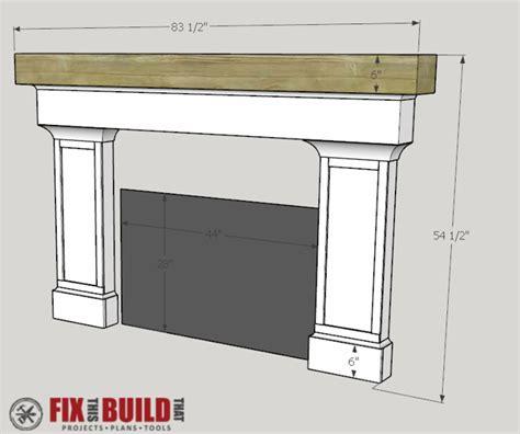 build  fireplace surround  mantel fixthisbuildthat