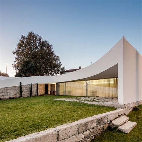 modern architecture marvel  portugal   smooth white