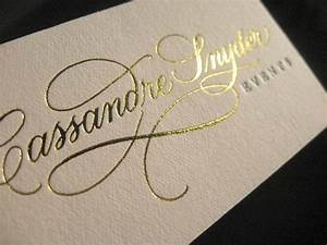 gold hot foil printed embossing business cards http With business cards embossed lettering