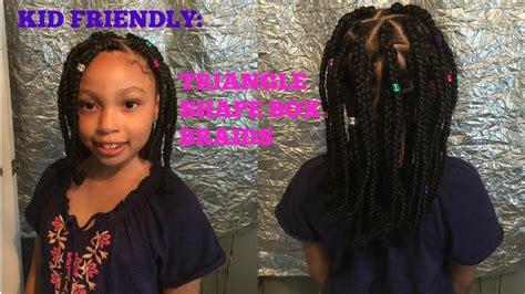 kid friendly triangle box braids youtube