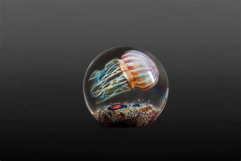 rick satavas luminous glass blown jellyfish