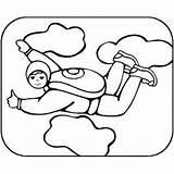 Coloring Sky Diving Pages Skydiving Sheet Printable Getcolorings Print sketch template