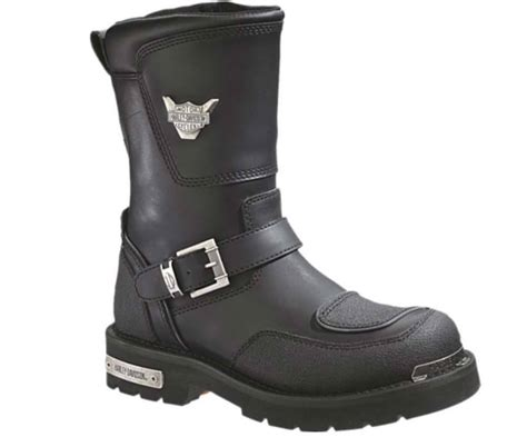mens black motorcycle riding boots harley davidson men 39 s shift engineer zip black 9 inch