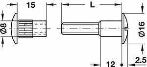 Verbindungsschraube Mit Hülse : verbindungsschraube und h lse mit gewinde m6 flachklinge ger ndelt stahl im h fele ~ Frokenaadalensverden.com Haus und Dekorationen