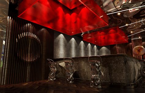 High End Wall Decor by Restaurant With High End Wall Decor 3d Model Max