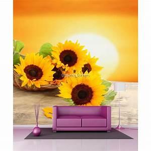 Papier Peint Geant : papier peint g ant tournesols 11097 stickers muraux deco ~ Premium-room.com Idées de Décoration
