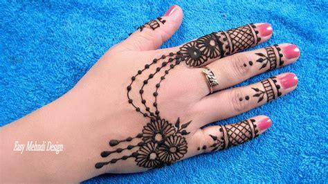 easy mehndi designs  hands simple mehndi design step