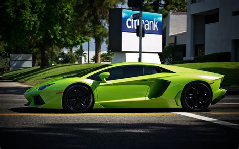 Lamborghini Vehicles Cars Green Supercar Stance Exotic
