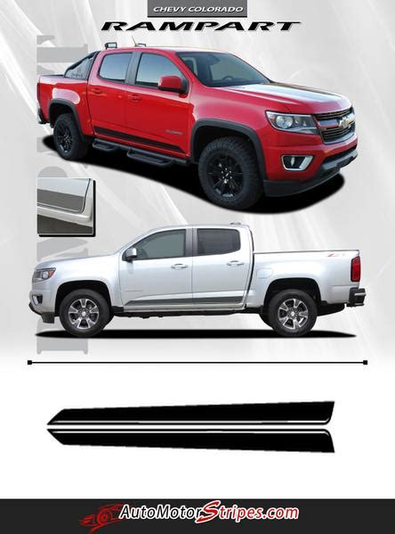 chevy colorado stripe rampart vinyl graphic