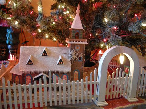 antique christmas tree fences golden glow