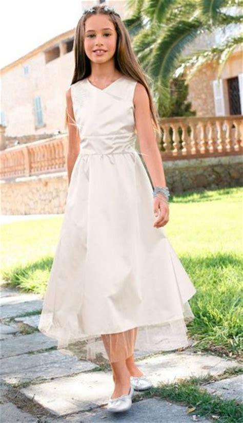 cfl kleid maedchen ballkleid gr  wollweiss creme weiss