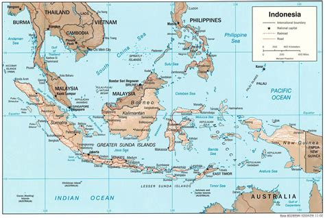 large detailed political map  indonesia indonesia large