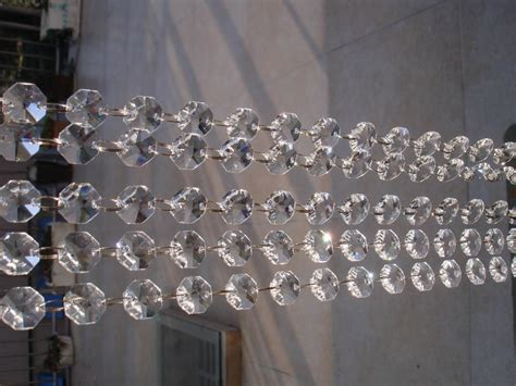 shippingmm crystal octagon bead strand curtainm