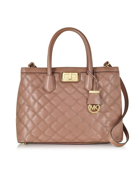 michael kors quilted bag michael kors quilted satchel in pink lyst