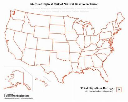 Natural Gas States State Too Much Map