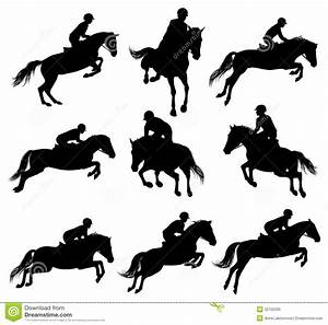 Horse Running With Rider Silhouette