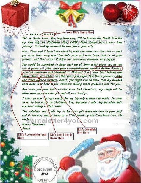 santa claus letter letters from santa claus pole letters font 11808
