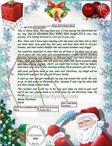 letters from santa claus north pole letters font With santa personal letter from north pole