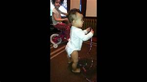 My 1 year old daughter kyrie doing it for the vine - YouTube