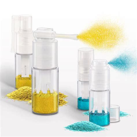 Qosmedix Fine Mist Powder Spray Bottle, Clear