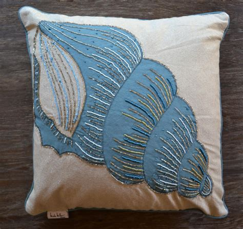 Miller Home Accent Pillows by Miller Seashell Accent Pillow J Brulee Home