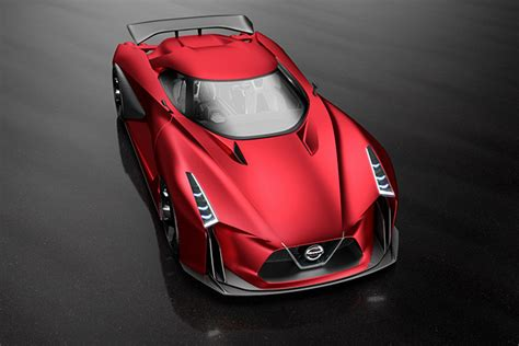 nissan concept  vision gt fire knight red