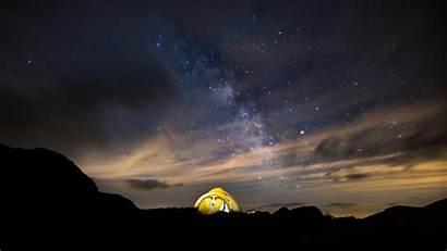 Sky Starry Night Tent Stars Wallpapers 4k
