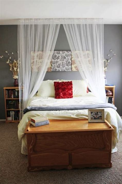 Divine Bedroom Decoration With Various Curtain Over Bed