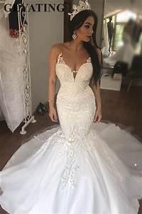 Vintage Lace Mermaid African Wedding Dress 2019 Illusion V