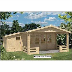 Chalet En Bois Habitable Livré Monté : chalet de jardin habitable 30m2 bois 58mm double vitrage ~ Dailycaller-alerts.com Idées de Décoration
