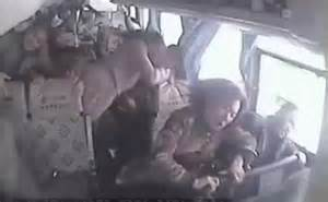 Video footage from inside bus as it rolls down a 400m hill ...