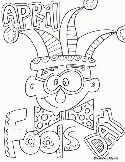 Fools April Coloring Pages Fool Colouring Printable