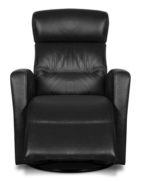 genuine leather swivel rocker reclining chair