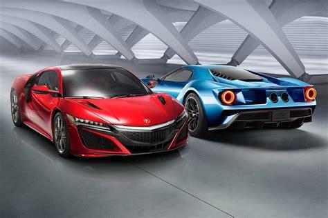 acura supercar acura nsx vs ford gt high tech supercar showdown
