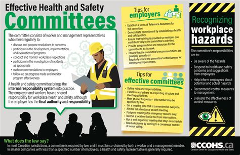 effective health  safety committees infographic