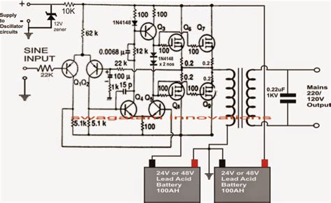 scematic diagram panel simple inverter circuit diagram 1000w