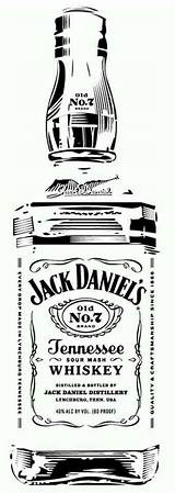 Daniels Jack Bottle Whiskey Stencil Silhouette Stencils Sketch Tattoo Pyrography Daniel Clip Clipart Glass Vinyl Templates Projects Label Svg Cameo sketch template
