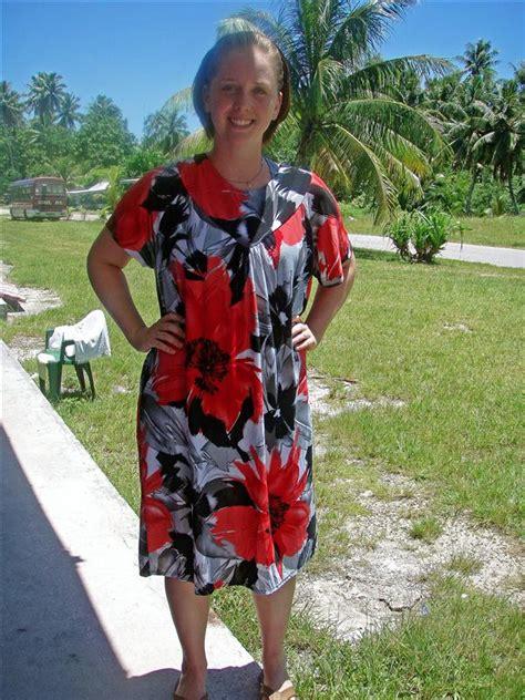 Cari in her Guam Dress - Blogabond