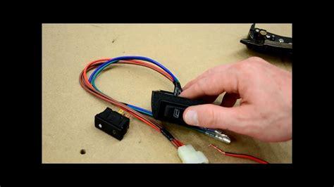 wire door lock  power window switches youtube