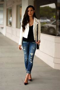 How To Wear Boyfriend Jeans (Outfit Ideas) 2018 | FashionTasty.com