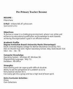 pre primary school teacher resume sample - 25 teacher resume templates in word free premium