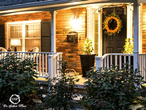 house porch at night diy porch lighting on sutton place