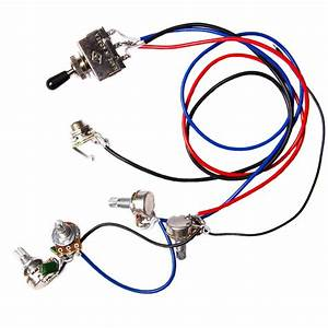 Guitar Wiring Harness Kit 2v2t 3 Way Switch Ffor Guitar Parts Replacement