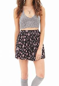 Forever 21 Floral Lace Mini Skirt   Lyst