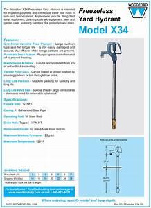 Woodford Model X34 Freezeless Yard Hydrant