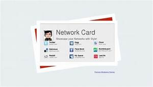 Network card blogger template btemplates for Networking cards template