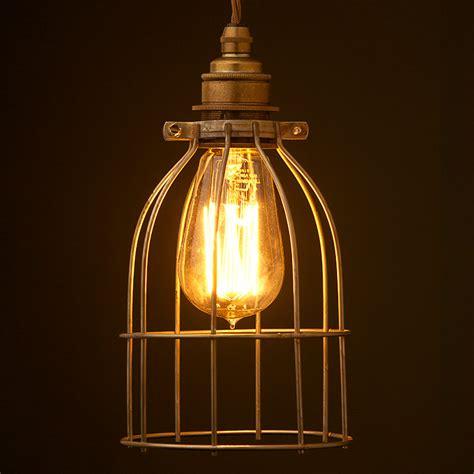 light bulb cage antiqued bulb cage pendant