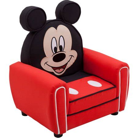 Disney Mickey Mouse Figural Upholstered Chair, Red