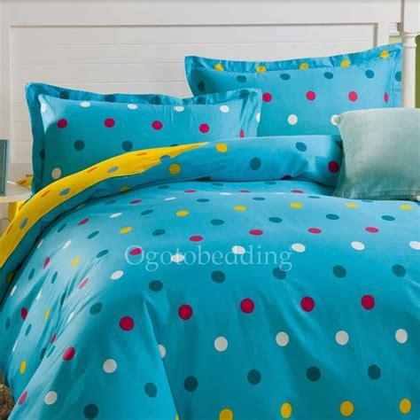 modern blue polka dot hippie quality teen bedding sets