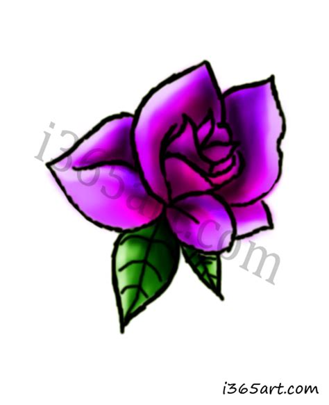 how to draw a purple flower beautiful i365art